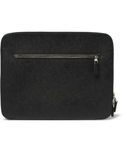 Cadogan Full-grain Leather Zip-around Pouch - Black