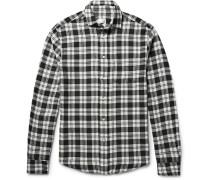 Brooklyn Checked Cotton-twill Shirt