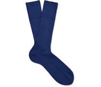 No. 13 Ribbed Piuma Cotton Socks