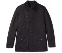 Corduroy-trimmed Water-resistant Shell Jacket