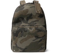 Camouflage-print Felt Backpack