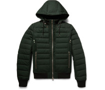 Quilted Cotton Hooded Down Jacket