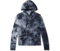 Tie-Dyed Loopback Supima Cotton-Jersey Zip-Up Hoodie