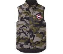 Garson Slim-Fit Camouflage Quilted Shell Down Gilet