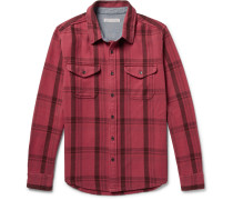Checked Organic Cotton-twill Shirt