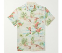 Kona Convertible-Collar Printed EcoVero Shirt