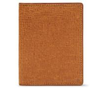 Cross-grain Leather Bifold Cardholder