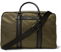 Mediterraneo Leather-trimmed Canvas Holdall