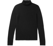 Slim-Fit Ribbed Cashmere-Blend Rollneck Sweater