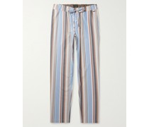 Night & Day Striped Cotton-Poplin Pyjama Trousers