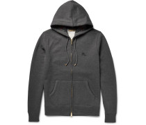 London Fleece-back Cotton-blend Jersey Zip-up Hoodie