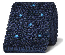 6cm Polka-dot Knitted Mulberry Silk Tie