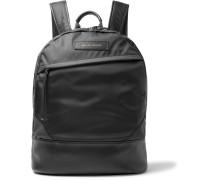 Kastrup Leather-trimmed Nylon Backpack