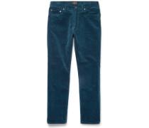 Slim-fit Cotton-blend Corduroy Trousers
