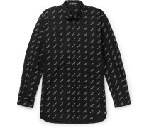 Button-down Collar Printed Cotton-twill Shirt