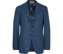 Blue Kei Slim-fit Wool-blend Tweed Blazer