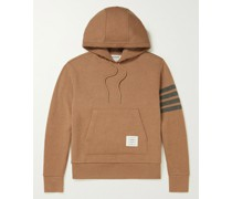 Striped Cashmere-Blend Hoodie