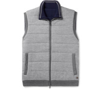 Reversible Quilted Brushed-wool Gilet