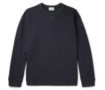 Field Contrast-trimmed Fleece-back Cotton-jersey Sweatshirt