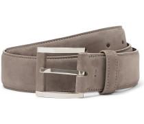 3.5cm Grey Suede Belt
