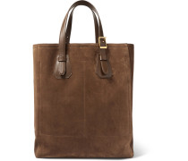 North West Leather-trimmed Suede Tote Bag