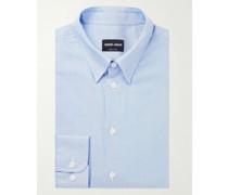 Slim-Fit Striped Cotton-Jacquard Shirt