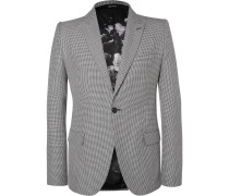Slim-fit Houndstooth Wool, Mohair And Silk-blend Blazer