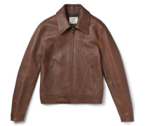 Kapore Full-grain Leather Bomber Jacket