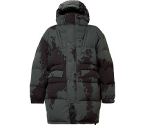Oversized Printed Nylon Hooded Down Jacket