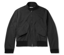 Mito Brushed-twill Harrington Jacket