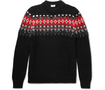 Sequinned Fair Isle Knitted Sweater