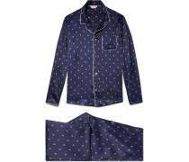 Brindisi 19 Printed Silk Pyjama Set