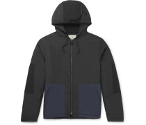 Padded Two-tone Shell Hooded Jacket