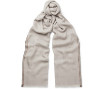 Mélange Cashmere And Silk-blend Scarf