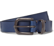2.5cm Blue Coniston Leather Belt