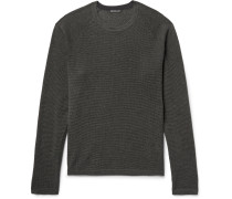 Waffle-knit Cotton, Cashmere And Wool-blend Sweater