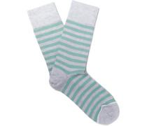 Tobin Striped Sea Island Cotton-blend Socks