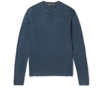 Wool And Silk-blend Henley T-shirt