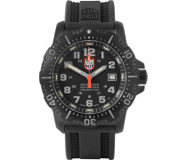 Anu 4221 Stainless Steel And Rubber Watch