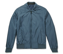 Slim-fit Reversible Silk-shell Bomber Jacket