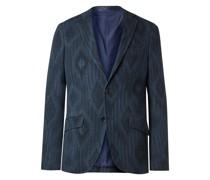 Slim-Fit Herringbone Cotton-Blend Jacquard Blazer