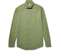 Genova Brushed Modal And Cotton-blend Shirt