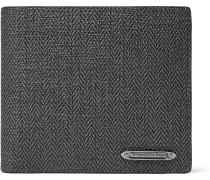 Herringbone Coated-canvas Billfold Wallet
