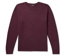 Ribbed Mélange Wool and Cashmere-Blend Sweater