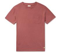 Slub Cotton And Linen-blend T-shirt