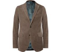 Brown Slim-fit Cotton And Cashmere-blend Corduroy Blazer