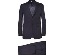 London Navy Slim-fit Wool Suit