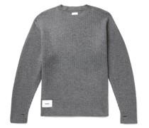Waffle-Knit Merino Wool Sweater