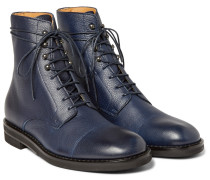 Grained-leather Boots
