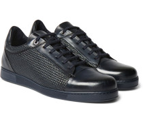 Pelle Tessuta Leather Sneakers